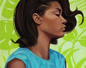 Giclee Art Print of Original Oil Painting figure painting fashion, vogue, pop art portrait, figurative art, fashion illustration, painting