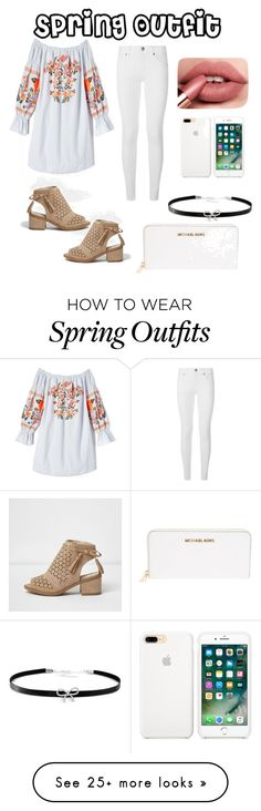 """""""Cute Spring Outfit"""" by rayannzahriya on Polyvore featuring Free People, Burberry, Giani Bernini and MICHAEL Michael Kors"""