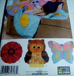Simplicity Crafts Animal Shaped Rag Quilts by AlorasAdorables