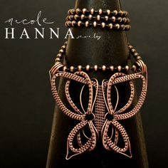 Classic Butterfly Pendant by Nicole Hanna | JewelryLessons.com