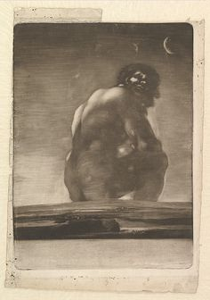 Goya (Francisco de Goya y Lucientes) | A Giant Seated in a Landscape, sometimes called 'The Colossus' | The Met