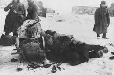 Фото: Красноармейцы отдыхают у пулемета «Максим» в Сталинграде