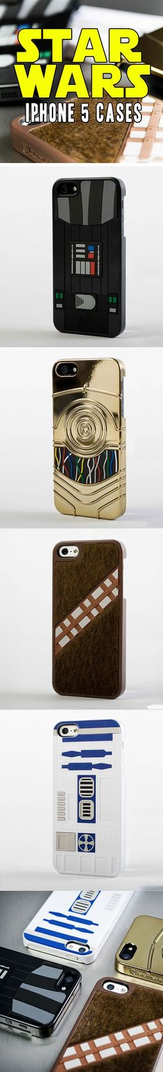 Star Wars iPhone cases. I need these.