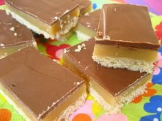 Caramel Toffee Squares Recipe from Grandmother's Kitchen