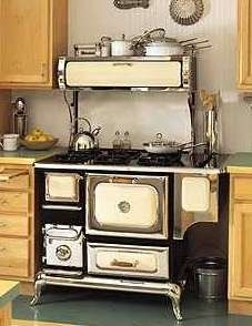 Old fashion stove! @Jamie Wise Wise Wise Wise Wise Law looks like something the girls would play with! How cute for your kitchen
