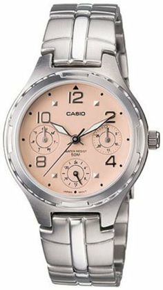 Casio General Ladies Watches Metal Fashion LTP-2064A-4AVDF - WW Casio. $42.46. 50 Meters / 165 Feet / 5 ATM Water Resistant. 30mm Case Diameter. Mineral Crystal. Quartz Movement. Save 15% Off!