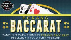 Perang Baccarat merupakan Games baru yang di rilis oleh server Poker V / PKV Games di akhir tahun 2019 ini. Nah, dengan adanya permainan baccarat ini server pkv games memiliki tambahan permainan menjadi 9 games dalam 1 user id. Poker, Company Logo, Games, Plays, Gaming, Game, Toys, Spelling