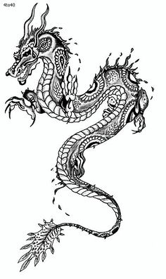 Best ideas of the Chinese New Year of the tattoo dragon - Best idea . - Best ideas of the Chinese New Year of the tattoo dragon – Best ideas of the Chinese New Year of t - Dragon Tattoo Images, Dragon Tattoo For Women, Japanese Dragon Tattoos, Dragon Tattoo Designs, Chinese Dragon Drawing, Dragon Images, Trendy Tattoos, Tattoos For Women, Cool Tattoos