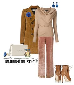 """Pumpkin Spice"" by captainsilly ❤ liked on Polyvore featuring Yves Saint Laurent, Alberta Ferretti, Jimmy Choo, Olivia + Joy, Bijoux de Famille and Chanel"
