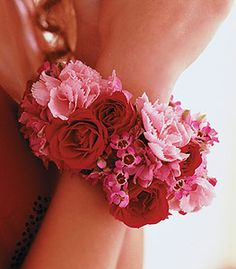 Setting The Trend With Sizzling Red Spray Roses And Gentle Pink Flowers Wrap On Wrist Like A Glamorous Bangle Bracelet Perfect For Mum Of Bride