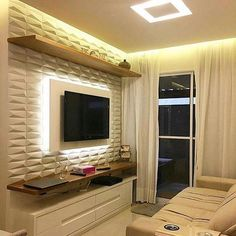 - Home Theater Tv Cabinet Design, Tv Wall Design, Tv Unit Furniture, Home Decor Furniture, Luxury Homes Interior, Home Interior Design, Wall Unit Decor, Modern Tv Room, Home Wall Painting