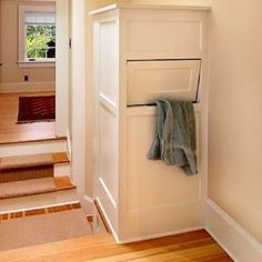 Laundry Chute - If your bedroom is two floors up from the washer and dryer, you might want to resurrect another nearly forgotten feature of old homes: the laundry chute.