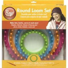 @Overstock - BOYE has created this safe and simple loom set for those who want to knit without needles. A loom and a hook are all that is needed to create many treasures for family and friends. Four different loom sizes come with easy-to-follow instructions.http://www.overstock.com/Crafts-Sewing/Boye-Round-Loom-Set/6788929/product.html?CID=214117 $19.99