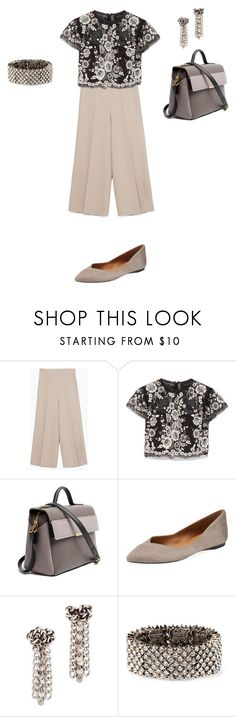 """""""Untitled #1117"""" by elenekhurtsilava ❤ liked on Polyvore featuring Zara, Needle & Thread, Marc by Marc Jacobs, French Sole FS/NY, DANNIJO and Accessorize"""