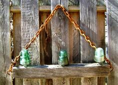 Upcycle Vintage Insulators What are insulators? Glass insulators were originally designed to keep telephone and telelgraph wires insulated from the wooden poles that held them up. They had to insulate the wire from the wood. That was the insulato