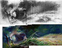 Tyrus Wong - Bambi concept art