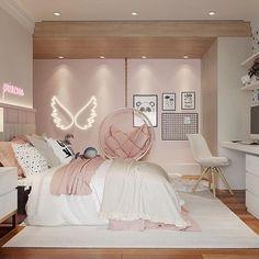 Cute Bedroom Decor, Bedroom Decor For Teen Girls, Room Design Bedroom, Girl Bedroom Designs, Stylish Bedroom, Home Room Design, Small Room Bedroom, Room Ideas Bedroom, Luxury Kids Bedroom