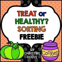TREAT OR HEALTHY? SORTING FREEBIE (SPECIAL ED.)These free life-skills sorting activities are just like those found in All About Healthy Foods: An Interactive Nutrition Unit for Special Education.  These free sorting activities are great for life skills classrooms for Halloween and other times.