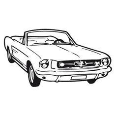 Tatouage ephemere Ford Mustang  http://tattoofab.com/fr/