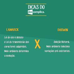 Diferenças entre Lamarckismo e Darwinismo. Clique na imagem para assistir às videoaulas sobre o assunto.