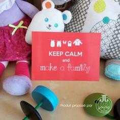 Carte postale Keep calm and make a family
