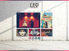 Gasp Website, images over real environment