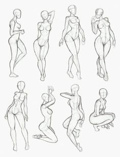 Female Pose Anatomy