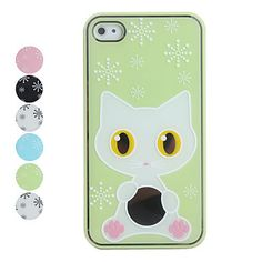 $15.99   FREE SHIPPING  Adorable kitty graphic case for your iPhone4/4S. You choose your favorite color. (GREEN, BLACK WITH WHITE KITTY, BLUE, PINK, WHITE WITH BLACK KITTY, WHITE WITH WHITE KITTY.)  ITEM #SCB00252110  Specifications Compatibility iPhone 4/4S Features Back Cover Material ...