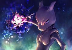 Mew and/or Mewtwo using Aura Sphere by request.