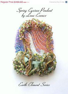 Jewelry Art Pendant Spring Equinox Gemstone by LunaEssence