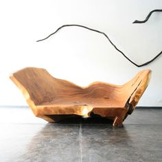 Chara bench in pequi wood. Designed and made by Hugo França. 2007