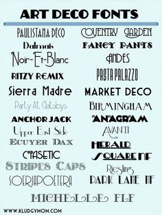 art deco fonts, new year's fonts, gatsby fonts Design Inspiration,#design,