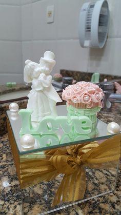 Decoração de Lavabo de casamento no Dulcilas Buffet