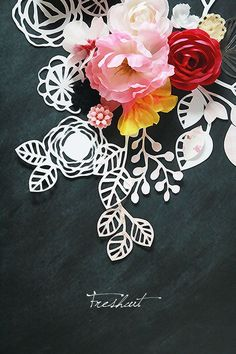 Paper cutting and paper flowers