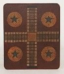 why do old game boards look like quilts to me