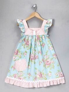 Take a look at this Pink Romantic Rose Flutter Dress - Infant, Toddler & Girls by Art & Soul Boutique by Bercot on Little Girl Outfits, Little Girl Dresses, Kids Outfits, Baby Girl Dresses, Baby Dress, Clothing Patterns, Dress Patterns, Toddler Dress, Infant Toddler