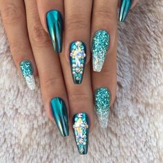 Spacey Frozen Ice Crystal Nails and supplies. Follow link to read more..