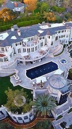 ~Grand Mansions & Luxury Homes Luxury Homes Dream Houses, Luxury Homes Interior, Luxury Home Decor, Dream Homes, Dream Home Design, Modern House Design, My Dream Home, Mansion Homes, Dream Mansion