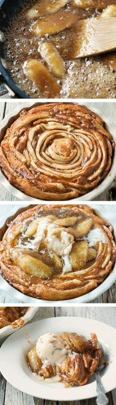 Bananas Foster Crescent Swirl Recipe