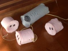 make toilet paper roll 3 little pigs and wolf masks for dramatic play.