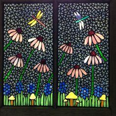 coneflower mosaic window Mosaic Ideas, Mosaic Projects, Mosaic Designs, Mosaic Patterns, Garden Projects, Garden Ideas, Art Projects, Mosaic Art, Mosaic Glass