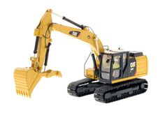 CAT Caterpillar 323F L Hydraulic Excavator with Thumb and Operator High Line Series 1/50 Diecast Model