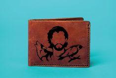 GOT Mens Leather Wallet Engrave Stark Purse John Snow Personalized Wallet Stark