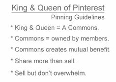 King & Queen of Pinterest Pinning Guidelines