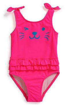 Tucker + Tate 'Lagoon' Ruffle One-Piece Swimsuit (Toddler Girls) | Nordstrom