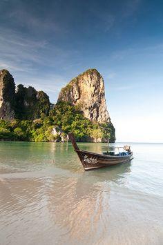 Railay Beach in Krabi, Thailand. Fue uno de mis mejores viajes.