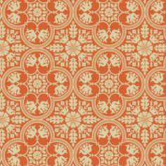 Historic Tile in Tangerine (Joel Dewberry - Notting Hill)