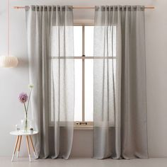 whkmp's own transparant gordijn x 275 cm) Natural Curtains, Curtain Texture, Elegant Living Room, Curtains With Blinds, Scandinavian Interior, Living Room Interior, Home Projects, Interior Inspiration, Designer
