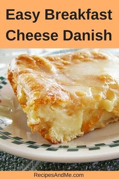 This easy breakfast cheese Danish made with Crescent rolls is simple to make and perfect for every occasion! It's one of my favorite brunch recipes and our family loves it on Christmas morning and on weekends. It comes together really quick: open up your crescent roll dough, add the cream cheese filling, bake and enjoy. #breakfast #danish #dessert #treat #creamcheese #crescent #easyrecipe #quickrecipe