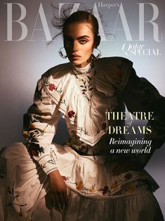 Model Rubina Dyan is styled by Anna Castan in 'Theatre of Dreams',fashion with flourish lensed by Greg Swales for Harper's Bazaar Arabia May